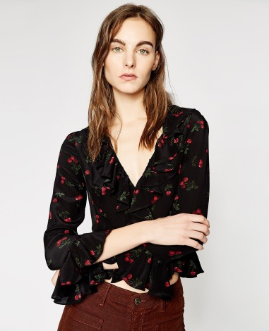 the-kooples-top-imprimé-cerises